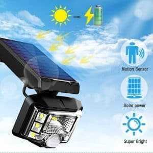 Solar Power Led PIR Motion Sensor Waterproof Garden Wall Solar light