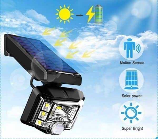 Solar Power Led PIR Motion Sensor Waterproof Garden Wall Solar light