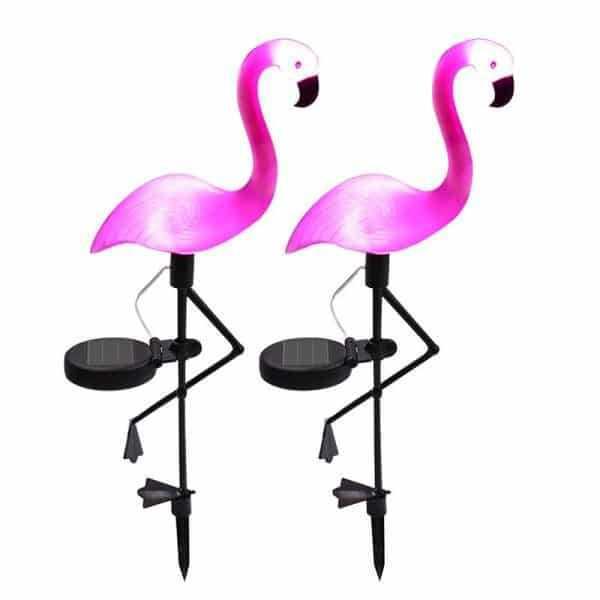 Solar Powered Pink Flamingo Lights