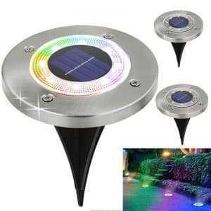 Solar Powered Waterproof Garden Lights For Ground