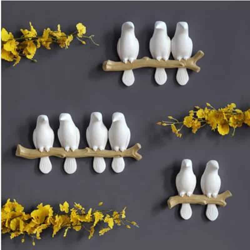 Creative Bird Figurine Wall Hook