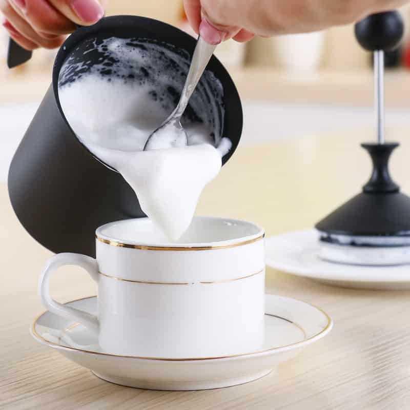 Handheld Double Mesh Frother Milk Creamer