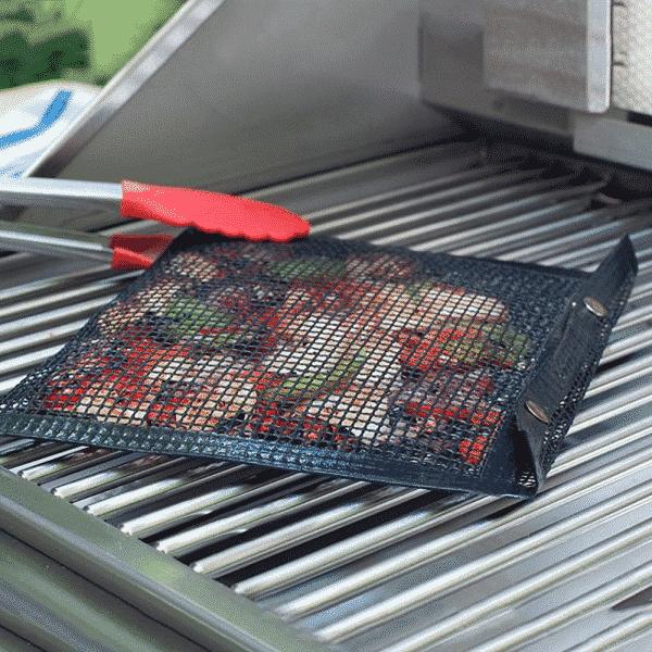 Non-Stick Reusable BBQ Mesh Grill Bag