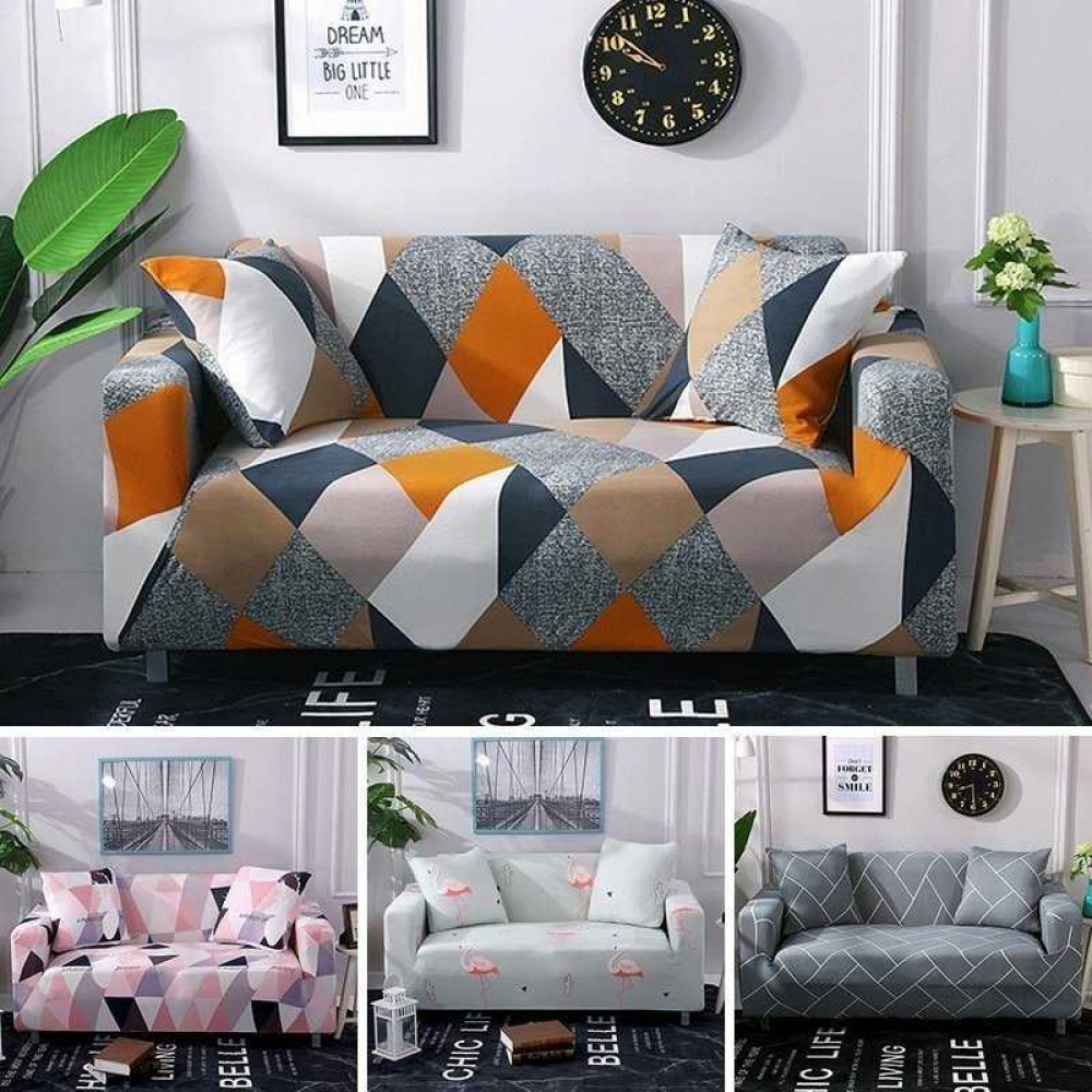 Elastic Polyester Floral Sofa Cover