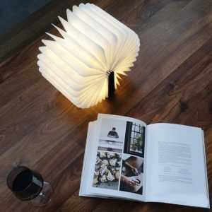 Innovative LED Foldable Wooden Book Shape Desk Lamp