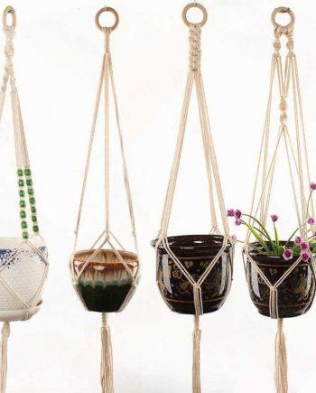 Handmade Macrame Cotton Rope Plant Pot Hanger
